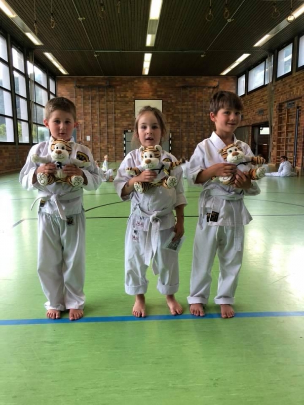 April 2018: Karate-Tiger Prüfung bestanden!